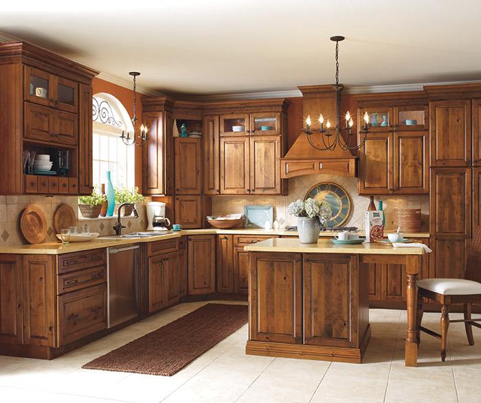 Rustic Maple Kitchen Cabinets: Whiskey Black Glaze Cabinet Finish On Rustic Alder