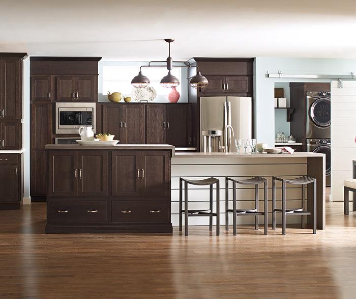 Inspiring Second Hand Cabinets 4 Dark Cherry Kitchen: Thatch Cabinet Finish On Hickory